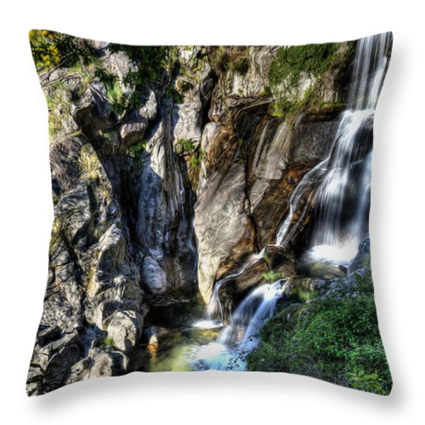 Waterfall IIi Throw Pillow by Marco Oliveira