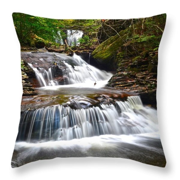 Waterfall Oasis Throw Pillow by Frozen in Time Fine Art Photography