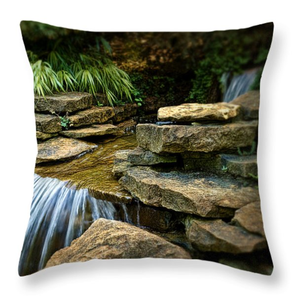 Waterfall Throw Pillow by Tom Mc Nemar
