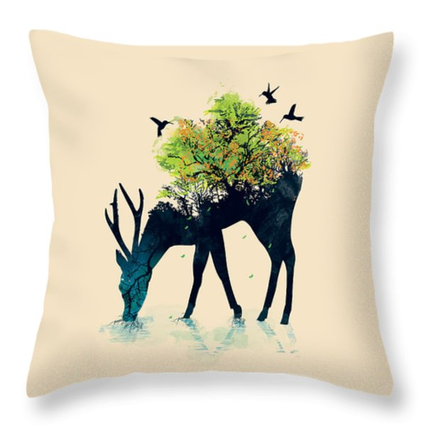 Watering A Life Into Itself Throw Pillow by Budi Satria Kwan