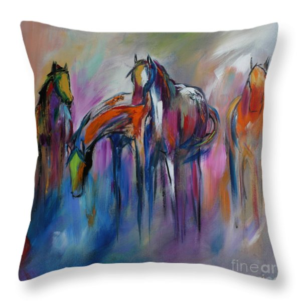 Watering Hole Throw Pillow by Cher Devereaux