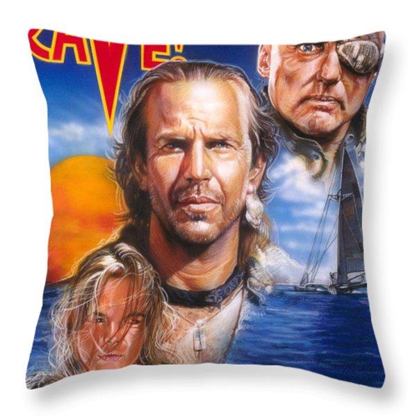 Waterworld Throw Pillow by Tim  Scoggins
