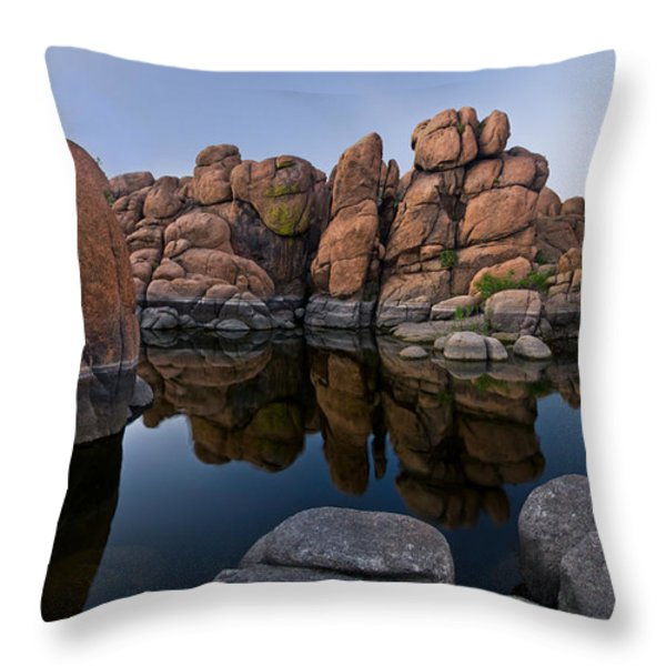 Watson Lake Arizona Reflections Throw Pillow by Dave Dilli