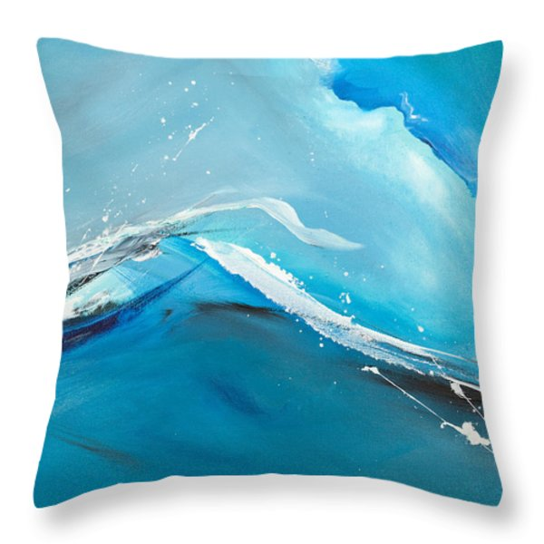 Wave Action Throw Pillow by Michelle Wiarda