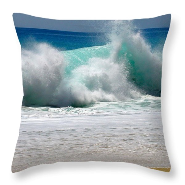 wave Throw Pillow by Karon Melillo DeVega