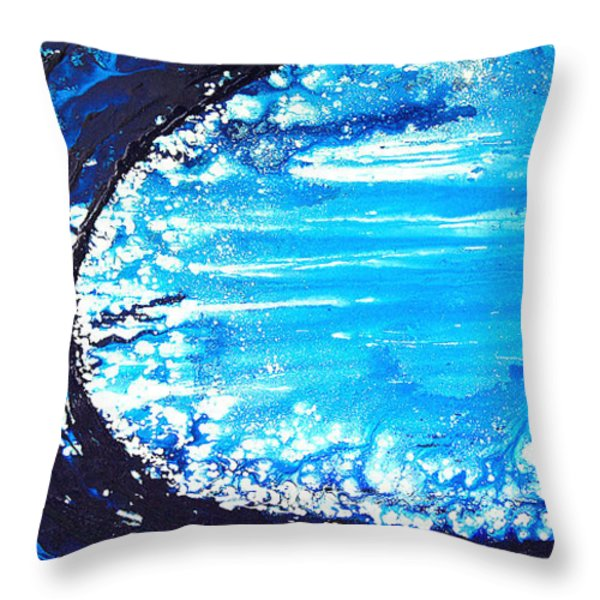 Wave Throw Pillow by Sharon Cummings