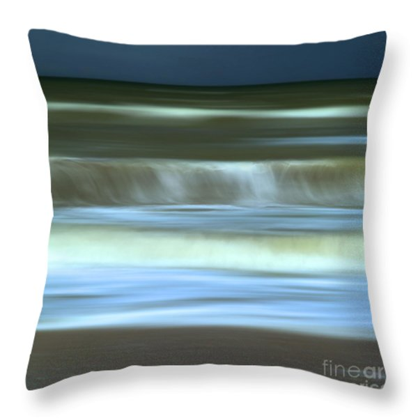 Waves Throw Pillow by Bernard Jaubert