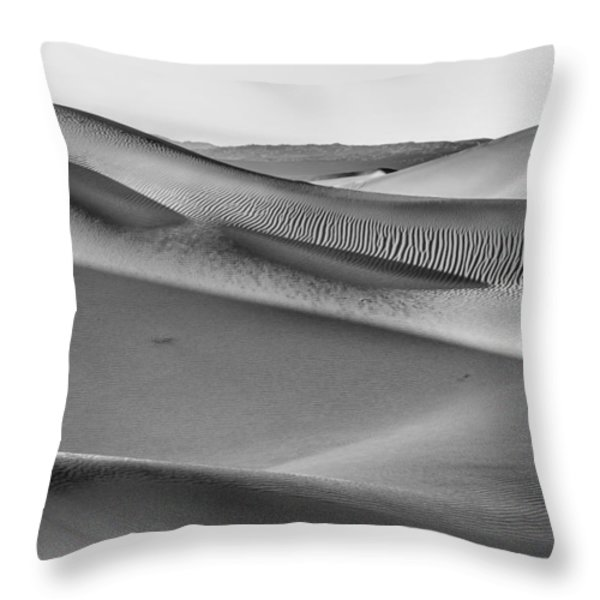 Waves of Sand III Throw Pillow by Jon Glaser