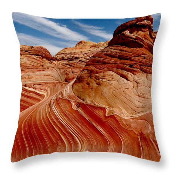 Waves Of Time Throw Pillow by Alan Socolik