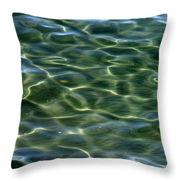 Waves on Lake Tahoe Throw Pillow by Carol Groenen