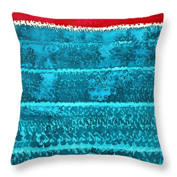 Waves Original Painting Throw Pillow by Sol Luckman