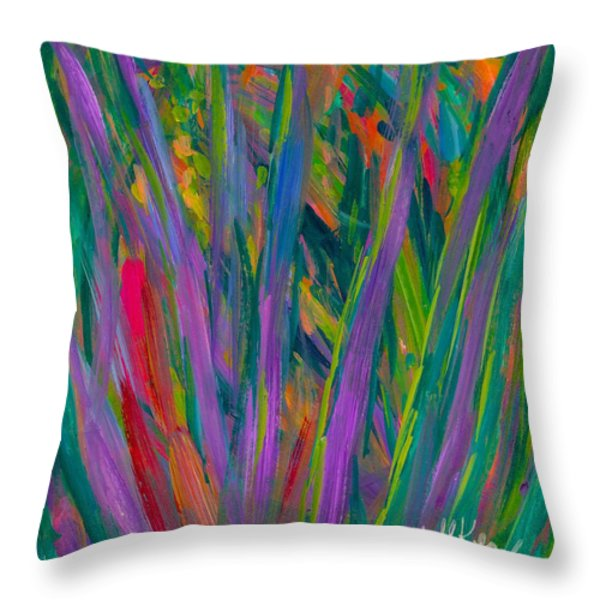 Waving Throw Pillow by Kendall Kessler