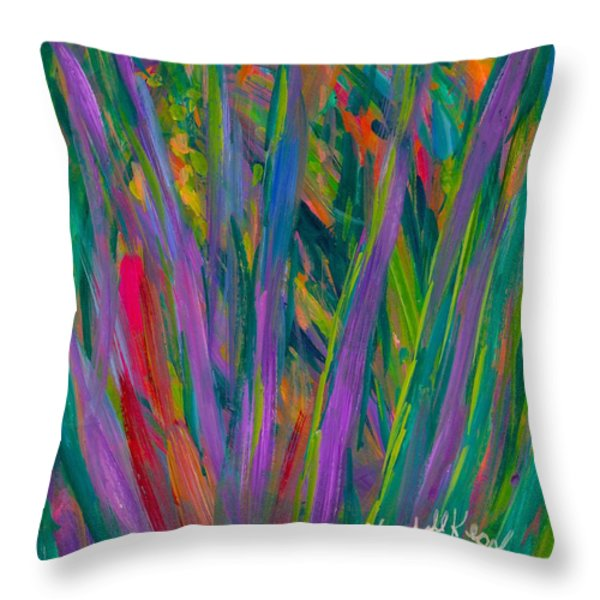 Waving Throw Pillow by Kendall Kessler