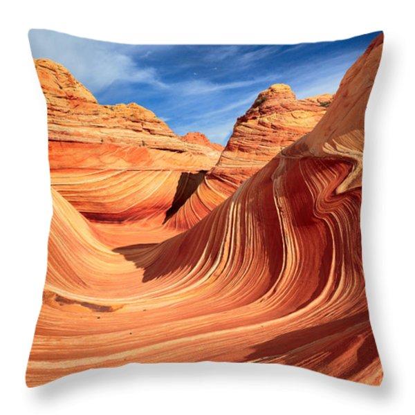 Wavy Bowl Throw Pillow by Inge Johnsson