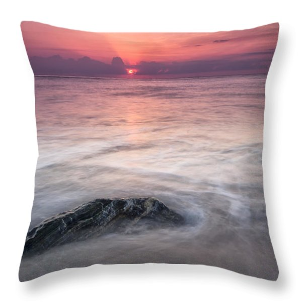 Wavy Day Throw Pillow by Jon Glaser