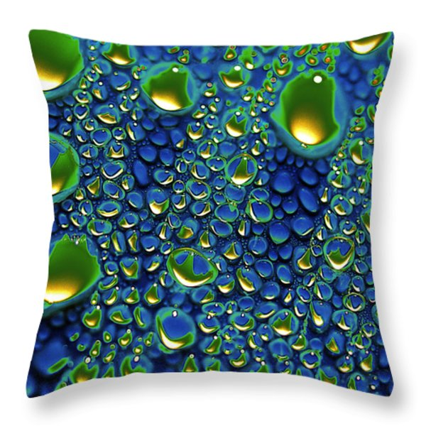 Wax Holds Up Throw Pillow by Joe Schofield