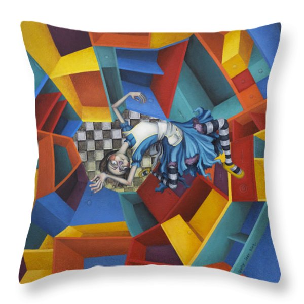Way Down In The Hole Throw Pillow by Kelly Jade King