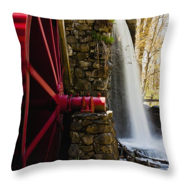 Wayside Grist Mill Throw Pillow by Dennis Coates