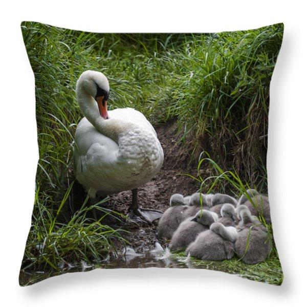 We All Here Mum Throw Pillow by Svetlana Sewell