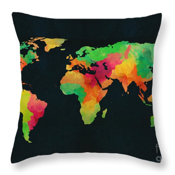 We are colorful Throw Pillow by Budi Satria Kwan