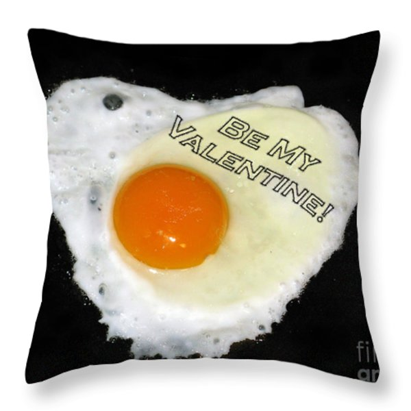 We Are Like Egg And Pepper. Be My Valentine Throw Pillow by Ausra Paulauskaite