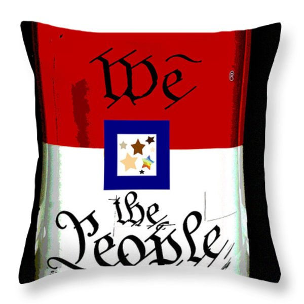 We The People Pop Art Print Throw Pillow by AdSpice Studios