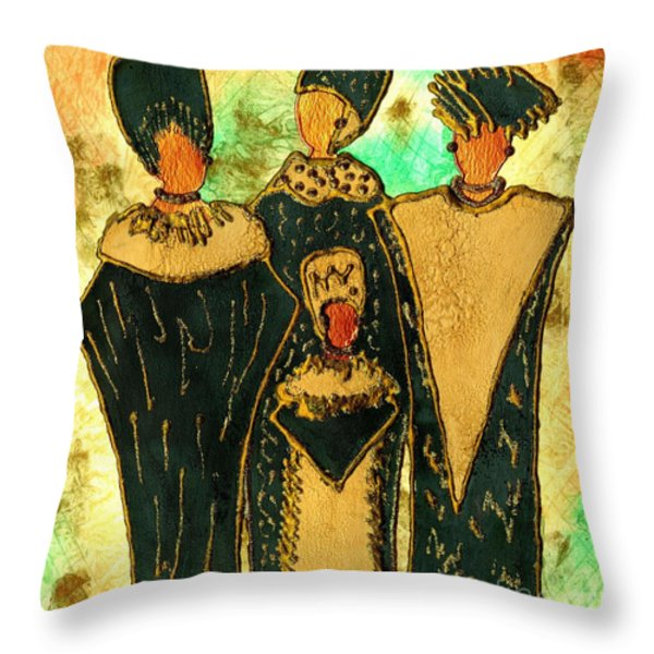 We Women 4 - Suede Version Throw Pillow by Angela L Walker