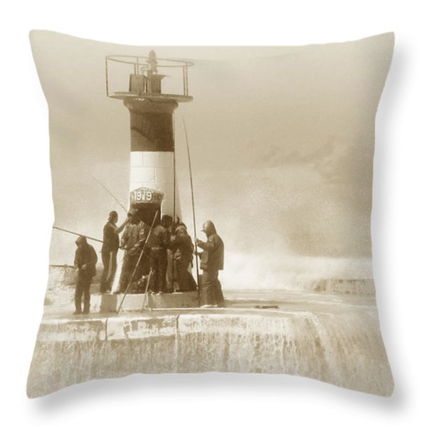 Weathering The Storm Throw Pillow by Andrew  Hewett