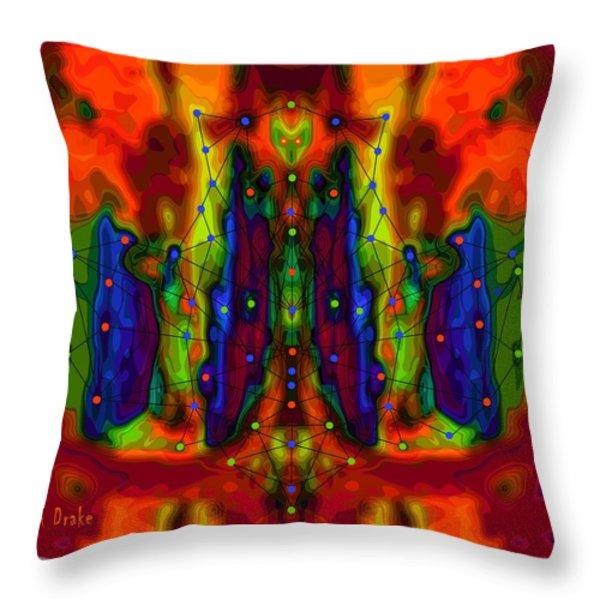 Web of Deceit Throw Pillow by Alec Drake