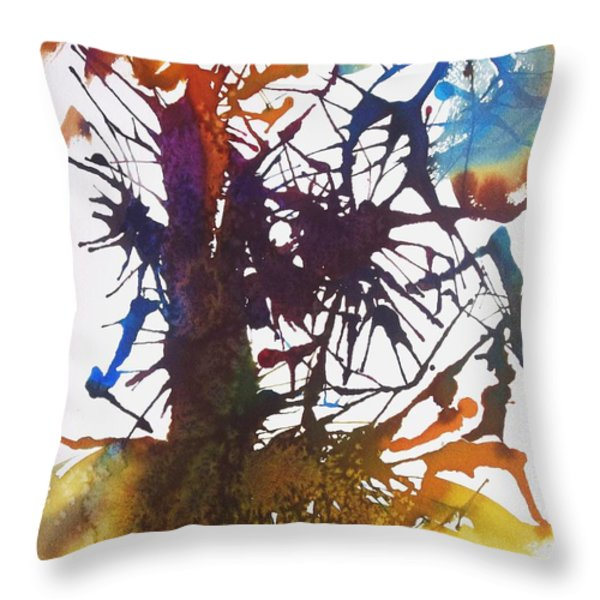 Web Of Life Throw Pillow by Ellen Levinson