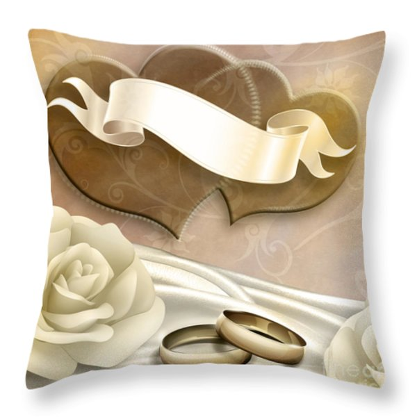 Wedding Memories V2 Sepia Throw Pillow by Bedros Awak