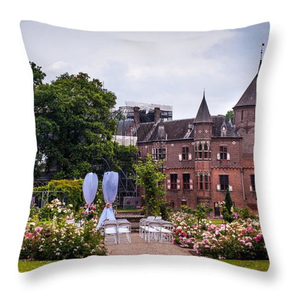 Wedding Setting in De Haar Castle. Utrecht Throw Pillow by Jenny Rainbow