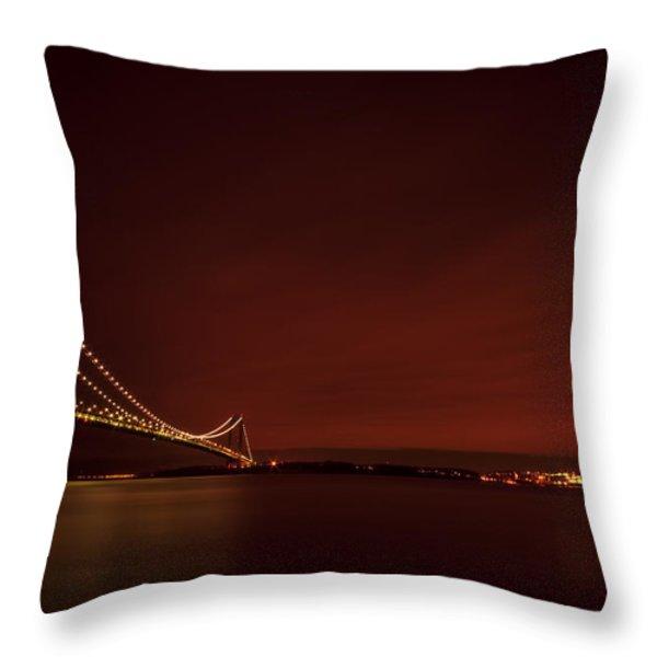 Wednesday Night Lights Throw Pillow by Evelina Kremsdorf