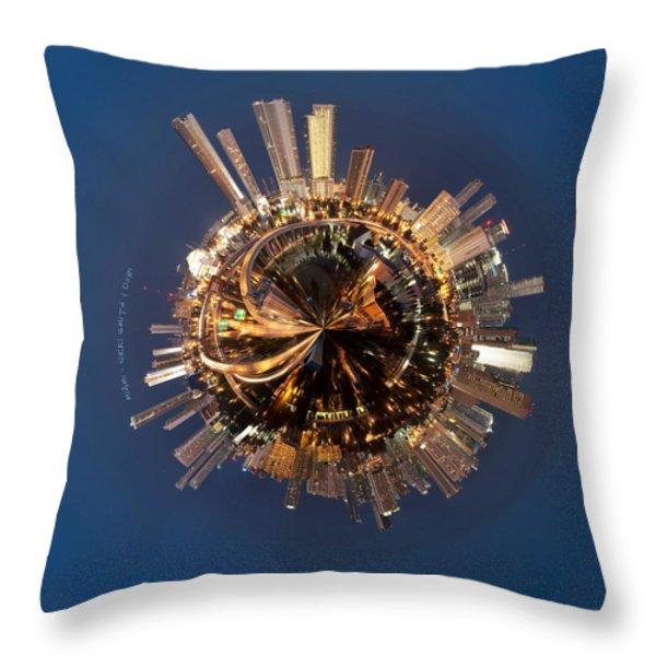 Wee Miami Planet Throw Pillow by Nikki Marie Smith