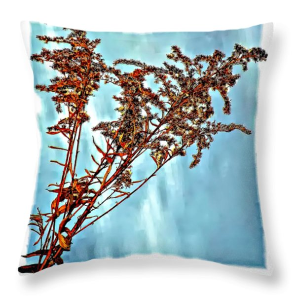 Weed Patch Throw Pillow by Steve Harrington