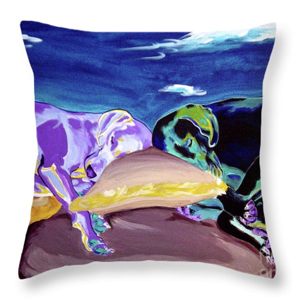 Weimaraner - Sweet Dreams Throw Pillow by Alicia VanNoy Call