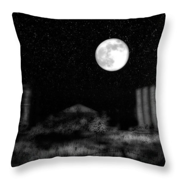 Weird Night Throw Pillow by Gothicolors Donna Snyder