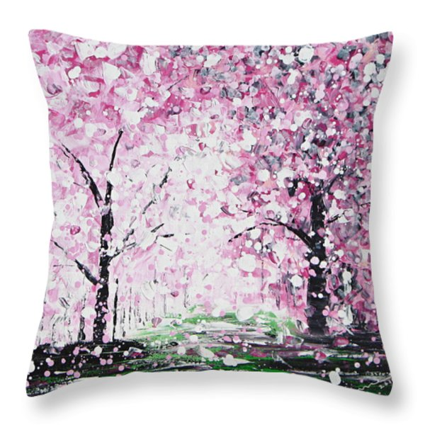 Welcome Spring Throw Pillow by Kume Bryant