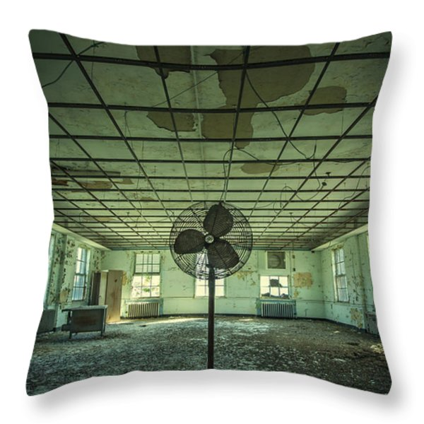 Welcome to the Asylum Throw Pillow by Evelina Kremsdorf