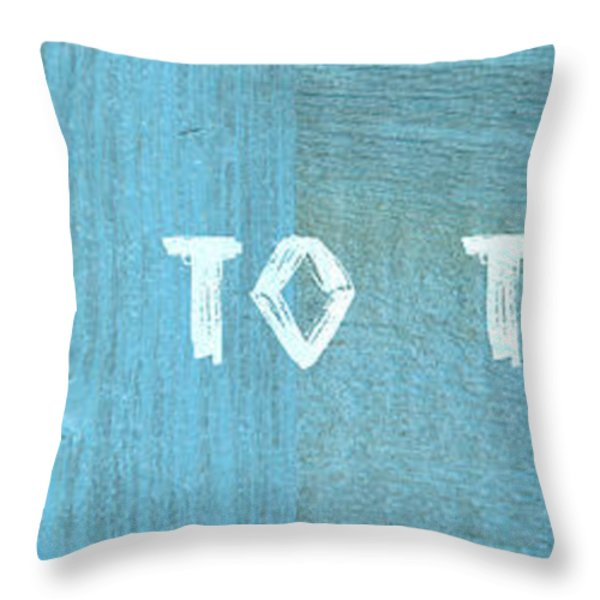 Welcome To The Beach Throw Pillow by Michelle Calkins