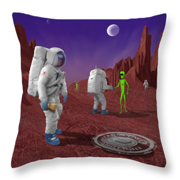 Welcome To The Future Throw Pillow by Mike McGlothlen
