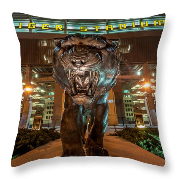 Welcome To The Jungle 2 Throw Pillow by Andy Crawford