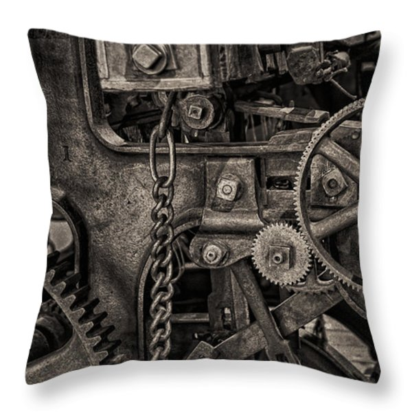 Welcome to the Machine Throw Pillow by Erik Brede