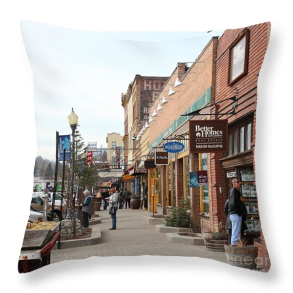 Welcome To Truckee California 5d27445 Square Throw Pillow by Wingsdomain Art and Photography