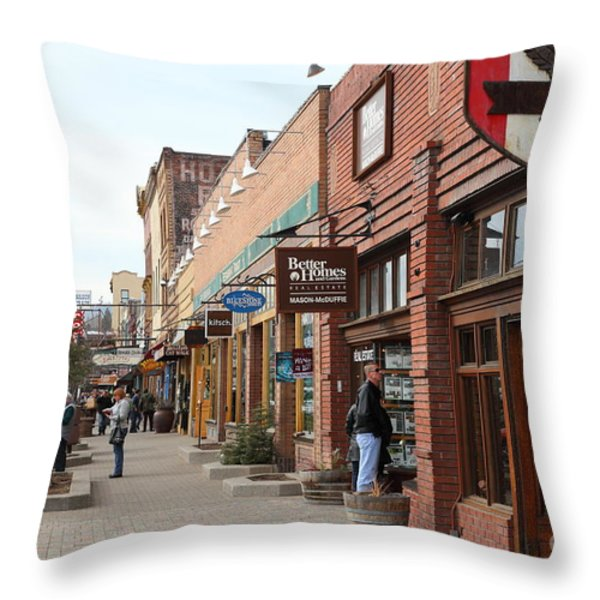 Welcome To Truckee California 5D27445 Throw Pillow by Wingsdomain Art and Photography