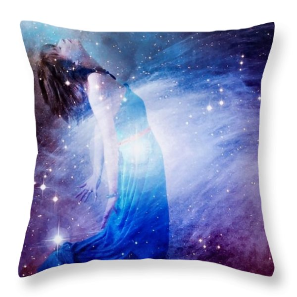 Welcoming The New Throw Pillow by Gun Legler