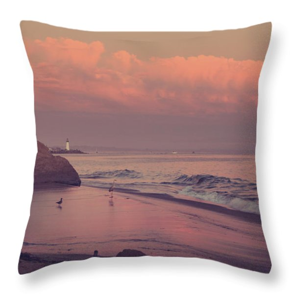 We'll Just Sit Here For a While Throw Pillow by Laurie Search