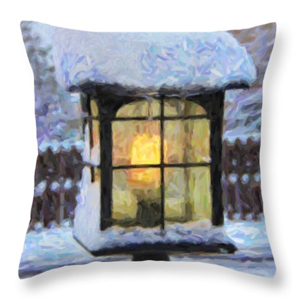 We'll Leave The Light On For You Throw Pillow by Jon Burch Photography