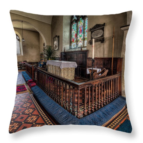 Welsh Chapel Throw Pillow by Adrian Evans