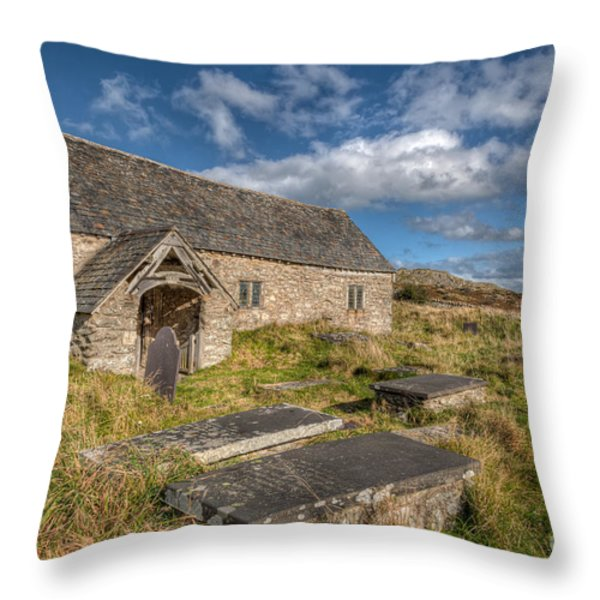 Welsh Church Throw Pillow by Adrian Evans